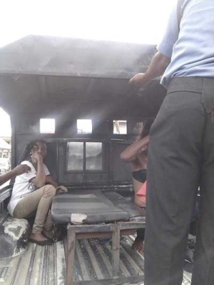 """Two female thieves, who allegedly specialize in robbing shops, supermarkets, boutiques and restaurants in Akwa Ibom State under the pretext of buying goods, have been arrested. The suspects were identified as Grace Ekpo and Mfon Daniel. The suspect, natives of Itiam Ikot Ebia, Uyo Local Government, were caught by some members of the public shortly after they robbed a boutique located at No. 15 Ekpo Obot Street and were handed over to men of the Akwa Ibom Police Command.  The sales girl, Imaobong Isaiah while speaking to newsmen said: """"The two girls entered my shop on pretence to buy from me but after picking all the costly female hand bags, shoes, men gens, hand watches and cloths worth forty-five thousand naira; instead of them to pay for what they have bought, they sent me to go and buy them drinks. So, I went to buy drinks for them at the nearby shop.   """"As I returned, I met them making calls, and immediately their operational Keke man who was on a standby to pick them came and they went inside the Keke with all my cloths without paying.  """"So, I told them to give me my cloths, they refused. So, I started shouting, help! Thief! But the Keke man had already moved.  """"As God would like it, luck ran out on them, the people around and people using car pursued them and caught them.""""  The suspects who are currently in police custody admitted to being involved in all kinds of robbery, after being interrogated."""